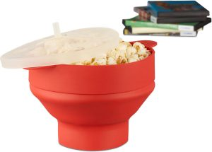 relaxdays-popcorn-maker-silicone-voor-magnetron-popcorn-popper-opvouwbaar-silicoon-rood